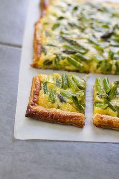 Asparagus Tarragon Puff Pastry Tart | www.aidamollenkamp.com | #pairswellwithfood