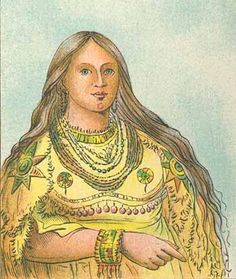 Painting of a Mandan, True American, Woman. They were a Fair Haired & Light Eyed People, that gave Lewis & Clarke Proof that Danes or Vikings had been in the Americas Long Before We Knew.  Unfortunately, there are only paintings, and Drawings of the Mandan People, as the White Mans Disease Wiped Out the Entire Tribe, There are NO Mandan Indians Living Today.