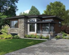 Attractive Contemporary House Plan - 80866PM | Architectural Designs - House Plans