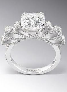 beautiful chanel engagement ring