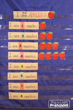"""""""I See Apples"""" - Apple Circle Time Activity for preschool kids a great activity for fall time or an apple unit!"""