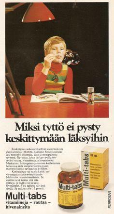 Multi-tabs: 70-luvun mainoksia