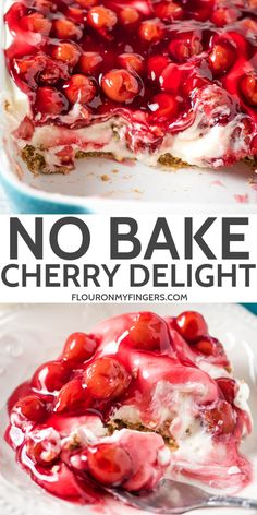 Whip up a super easy no bake cherry delight with Dream Whip cream cheese and a pecan crust The best old fashioned recipe straight from Mom s kitchen flouronmyfingers cherrydelight DreamWhip nobake dessertrecipes Cherry Delight Dessert, Cherry Desserts, Cherry Recipes, Köstliche Desserts, Delicious Desserts, Yummy Food, Cherry Pie Filling Desserts, Summer Dessert Recipes, Cherry Delight Recipe With Dream Whip