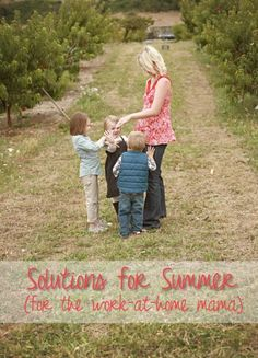 Great ideas for work-at-hom moms to stay sane while the kids are home on summer vacation!