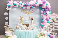 Pastel Mermaid Birthday Party Ideas | Photo 209 of 246 | Catch My Party
