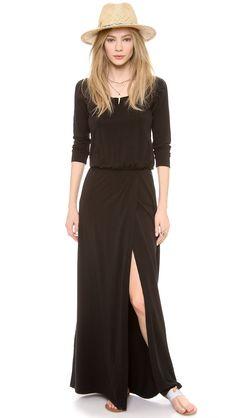 Splendid Women's High Slit Maxi Dress