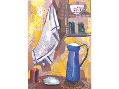 Clutwaith Edrica Huws (Kitchen still life with blue jug)