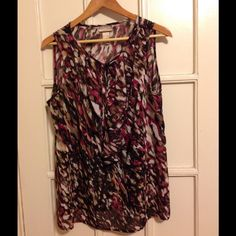 Professional Summer Top Very cute top. Like new, worn once. Very thin material, great for hot summer days. Washed once never dried in a dryer. Excellent Condition! Miss Tina Tops Tank Tops