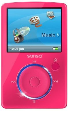 Sandisk Sansa Fuze 4GB MP3 and Video Player with FM Radio, Voice Recorder, microSD/SDHC Slot, PINK