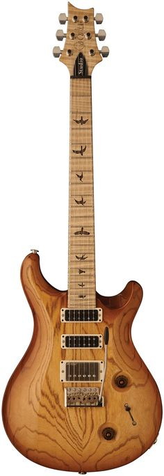 PRS guitar with natural finish