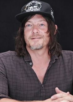 Norman Reedus at a press conference for The Walking Dead at SDCC on July 23, 3016.
