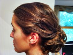 Another bridal updo side swept bun