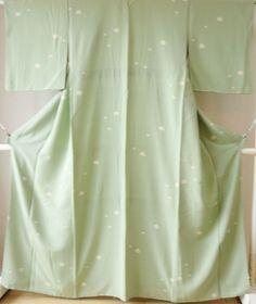 Kimono Dress Japan Geisha costume Vintage awase 168_E08S10