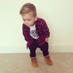 +> 93 cute toddler hairstyles for boys and girls - hairstyles - Rund ums Kindal_title] - Baby Outfits Cute Toddler Hairstyles, Baby Boy Hairstyles, Toddler Boy Haircuts, Little Boy Haircuts, Toddler Boys, Baby Kids, Baby Baby, Kids Hairstyle, Toddler Boy Style