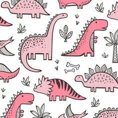 Stoff-Meterware Wald, Tiere, Herbst, Kinderzimmer, Dinosaurier, Sommer, Frühling, Dino, fallen, prähistorisch, Fossil, Kindergarten