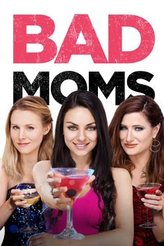 Watch ♑ Bad Moms - ☘ - When three overworked and under-appreciated moms are pushed beyond their limits, they ditch their conventional responsibilities for a jolt of long overdue freedom, fun, and comedic self-indulgence. Comedy Movies, Hd Movies, Movies Online, Girly Movies, Movies 2019, Film Movie, Jada Pinkett Smith, Kristen Bell, Mila Kunis