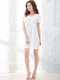 Bowknot Floral Lace Spliced V Neck Short Sleeve Nightdress http://www.amazon.com/Embroidery-Flower-V-Neck-Sleeve-Nightgown/dp/B01GE8XLHA/ref=sr_1_7?srs=8104465011&ie=UTF8&qid=1464747642&sr=8-7&keywords=women+lace+nightgown