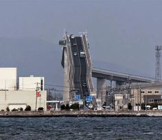 This Bridge is connection between Matsue and Sakaiminato, it is 1.7km long and 11.3m wide.