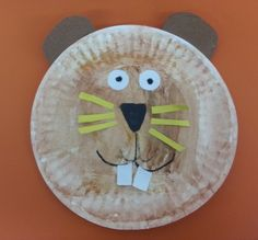 Paper Plate Groundhog- art project for Groundhog Day