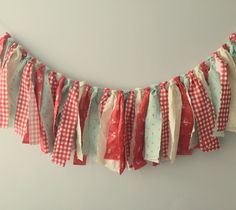 Garland Banner-Picnic Party Garland-Red Gingham Garland-Red and Blue Garland-Picnic Birthday Party Garland-Vintage Picnic by PartiesbyLittleLogan on Etsy https://www.etsy.com/listing/274929914/garland-banner-picnic-party-garland-red