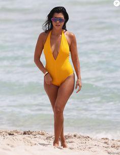 Kourtney Kardashian, Scott Disick, leurs fils Mason et Reign et Simon Huck profitent d'une journée ensoleillée à Miami. Le 14 septembre 2016.