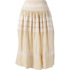 Pre-owned Rochas Silk Mid-Length Skirt ($185) ❤ liked on Polyvore featuring skirts, ecru, women clothing skirts, pink silk skirt, mid length skirts, rochas, rochas skirt and silk skirts