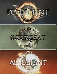 Divergent insurgent allegiant  Very similar to Hunger Games. One of the best Dystopian series ever. That's why are going to make a movie of it :)