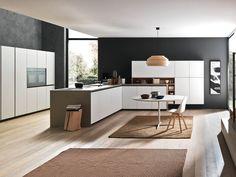 Cucina componibile laccata con penisola SILICA PENISOLA Collezione Silica by Comprex design MARCONATO