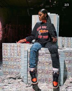 """""""I'm a finesser and I'm a fly dresser 💸"""" — Tomboy Outfits, Cute Swag Outfits, Tomboy Fashion, Teenager Outfits, Dope Outfits, Retro Outfits, Fashion Kids, Trendy Outfits, Girl Outfits"""