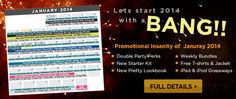 January 2014 Promo Calendar