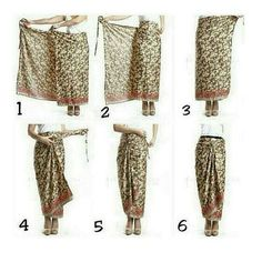 Tie a sarong Kebaya Lace, Kebaya Hijab, Kebaya Dress, Kebaya Muslim, Batik Fashion, Hijab Fashion, Ethnic Fashion, Model Rok Kebaya, Mode Batik