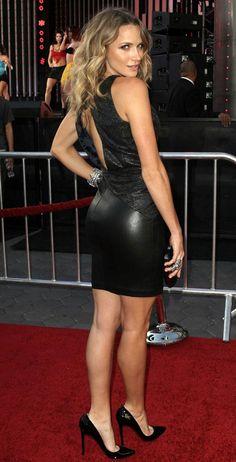 Shantel VanSanten booty in leather