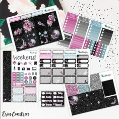 Moonlight Planner stickers for use with Erin Condren Happy