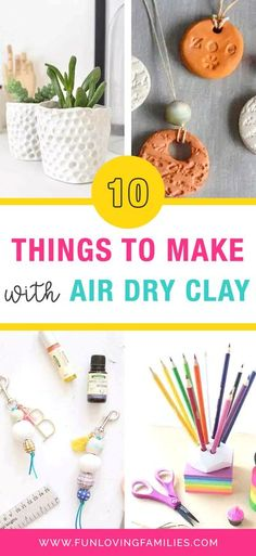 We love air dry clay because it is so simple and fun for kids and adults to use. This amazing list of things to make with air dry clay will get you going. You'll find tutorials and air dry clay tips. #clay #airdryclay #crafts #kidscrafts #kidsactivities #activities #parenting #craftideas #funforkids