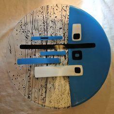 Deco Designed Fused Glass Bowl van GibsonGlassworks op Etsy