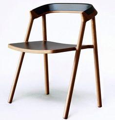 Silla de madera de estilo moderno COEN CHAIR Colección Element by Accupunto Europe | diseño Michael Young