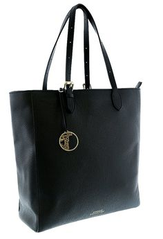 Versace Collection Women Pebbled Leather Shopping Handbag Satchel Black * Check this awesome product by going to the link at the image.