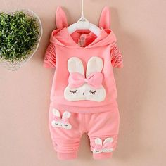 Fall baby girls clothes sets outfits hooded sweatshirt + pants tracksuit  for newborn infant baby girls suit costume clothes sets 54be7c343