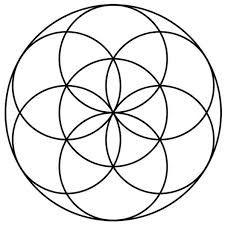 The Seed of Life and the Vesica Piscis Sacred Geometry Symbols, Sacred Geometry Tattoo, Flower Of Life Meaning, Life Flower, Flower Of Life Pattern, Logo Fleur, Seed Of Life, Flower Mandala, Crystal Grid