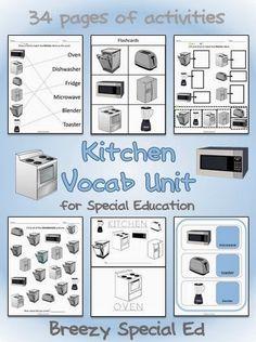 Kitchen Appliances Vocab Unit - Special Education