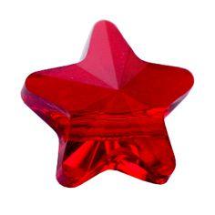 Durch die facettenreiche Oberfläche funkelt die Perle - und mit macht ihrem Namen alle Ehre - wie ein Stern! Beachten Sie, dass das Fädel-Loch nicht ganz mittig sitzt.    www.i-perlen.de