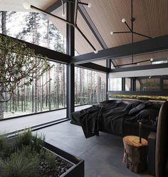 Dream House Interior, Luxury Homes Dream Houses, Dream Home Design, Modern House Design, Modern Home Interior, Interior Designing, Casa Steampunk, Future House, Black Interior Design