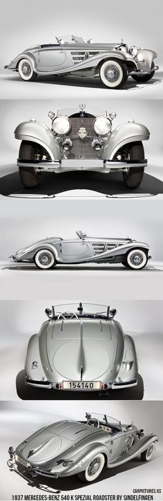 1937 Mercedes-Benz 540 K Spezial Roadster by Sindelfingen. #mybsisboss | MY B*S* IS BOSS | Scoop.it