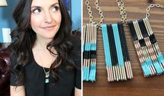 """How to Turn Bobby Pins into """"Polished"""" Pendants 