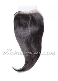 """#1B Lace Closure Indian Remy Hair 4X4"""" Straight [CI02]"""