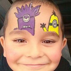 Minion Face Paint design.jpg (381×381)