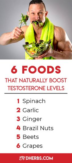 6 Foods That Naturally Boost Testosterone Levels Increase Testosterone Naturally, Increase Testosterone Levels, Natural Testosterone, Testosterone Booster, Fitness Tips For Men, Easy Fitness, Men's Fitness, Muscle Fitness, Low Libido In Men
