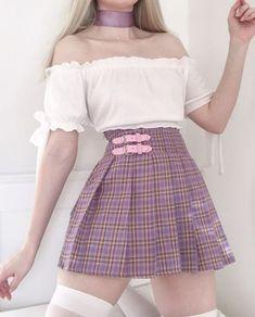 Egirl Fashion, Plaid Fashion, Ulzzang Fashion, Kawaii Fashion, Fashion Outfits, Ulzzang Style, Korean Ulzzang, Pink Skirt Outfits, Pretty Outfits