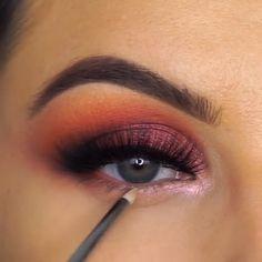 Glam Makeup, Diy Makeup, Makeup Inspo, Eyeshadow Makeup, Makeup Inspiration, Makeup Tips, Beauty Makeup, Makeup Tutorials, Eyeshadows