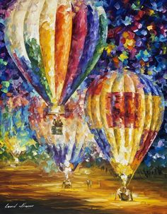 BALLOON AND EMOTIONS — Palette Knife Oil Painting On Canvas By Leonid Afremov #Impressionism